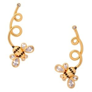 KATE SPADE • Picnic Perfect Bee Earrings Ear Pins